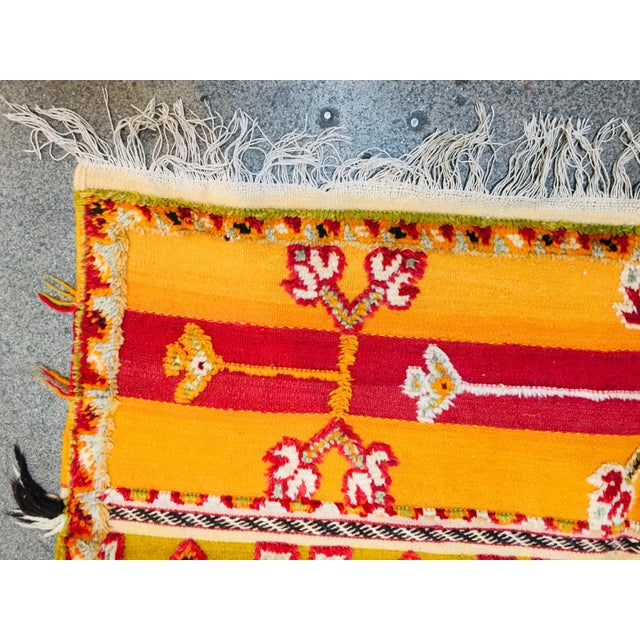 Berber Tribes of Morocco Moroccan Vintage Tribal Rug - 4′9″ × 6′11″ For Sale - Image 4 of 13