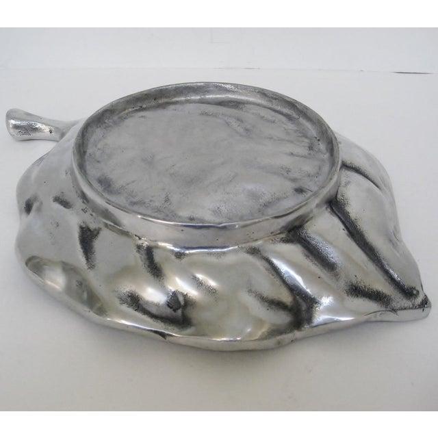 Aluminum Leaf-Shaped Platter - Image 7 of 7