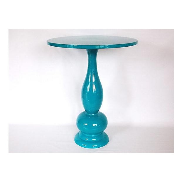 Teal Lacquer Bistro Table - Image 8 of 8