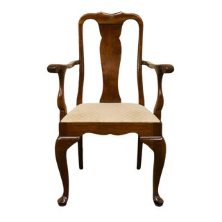 20th Century Queen Anne Stickley Furniture Solid Cherry Dining Arm Chair