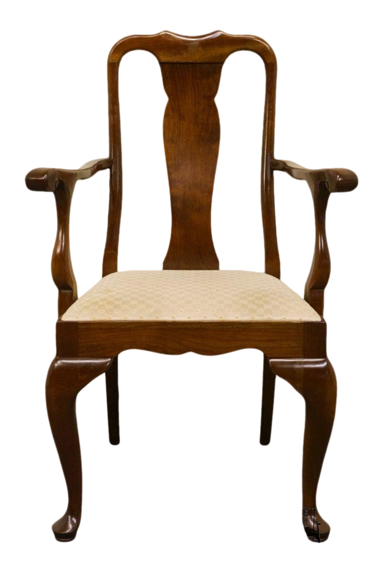 Charmant 20th Century Queen Anne Stickley Furniture Solid Cherry Dining Arm Chair