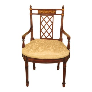 Theodore Alexander Regency Mahogany Armchair For Sale