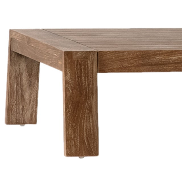 Beautifully hand crafted teak wood coffee table with simple functional style. Great for outdoors or indoors. Each has...