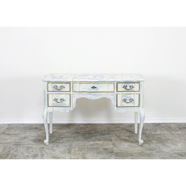 French Provincial White Shabby Chic Vanity Desk For Sale - Image 13 of 13