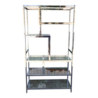 Vintage Chrome Shelf Unit