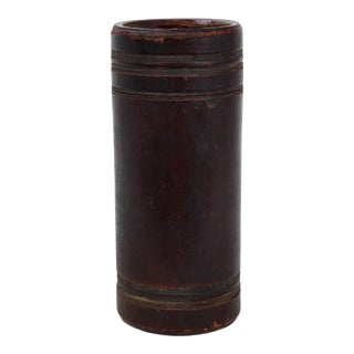 Vintage Bamboo Tea Canister For Sale