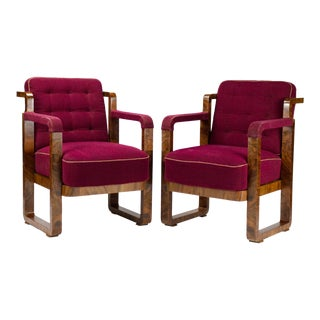 1930s Art Deco Armchairs- a Pair For Sale