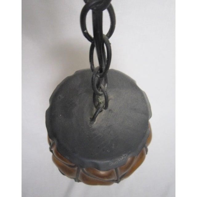 Italian Encased Amber Glass Pendant - Image 5 of 5