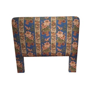 Custom Full Size Headboard in Beautiful Clarence House Fabric For Sale