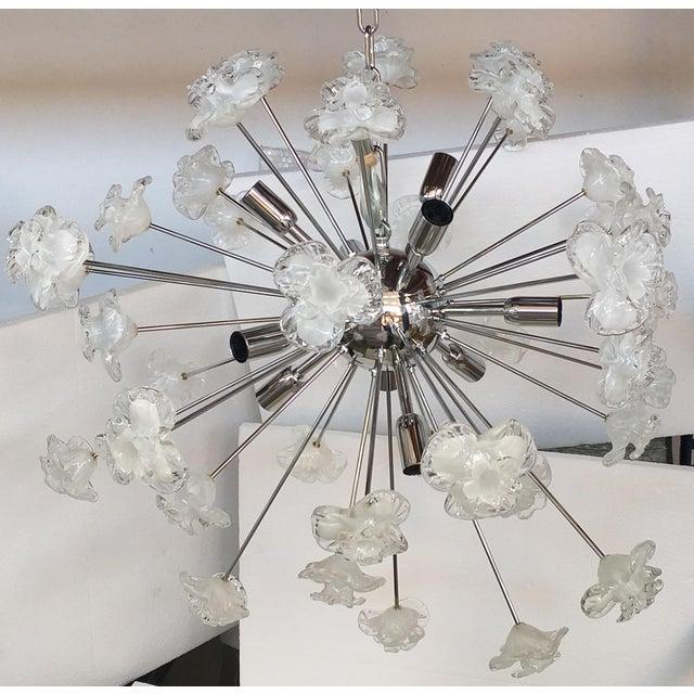 Chandelier sputnik murano glass flowers murano white and trasparent Flowers murano white and trasparent diameter 75 cm =...