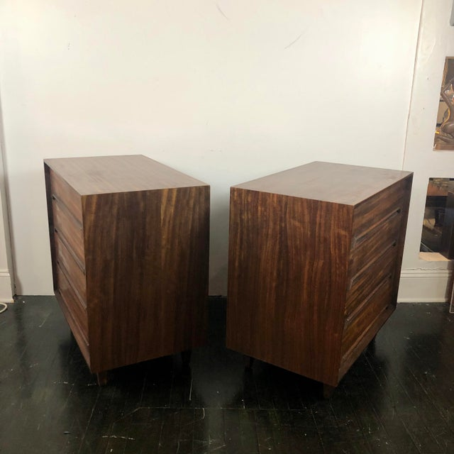 Drexel Milo Baughman for Drexel Perspective Chests - a Pair For Sale - Image 4 of 12