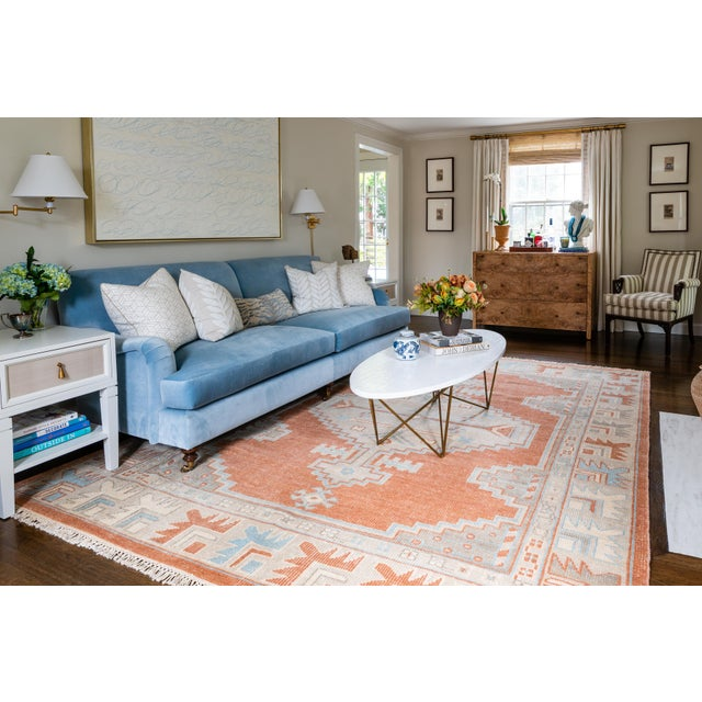 """Erin Gates Concord Walden Rust Hand Knotted Wool Area Rug 5'6"""" X 8'6"""" For Sale In Atlanta - Image 6 of 8"""