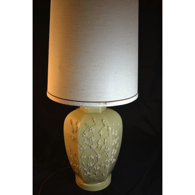 Traditional Lamp with Raised Floral Motif - Image 4 of 4