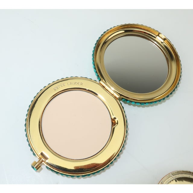Estee Lauder Pave Crystal Powder Compact For Sale - Image 10 of 13