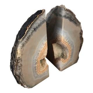 Stone Bookends Brazilian Agate Stone For Sale