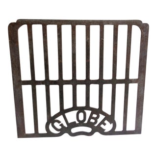 Early 20th Century Metal Globe Grate For Sale