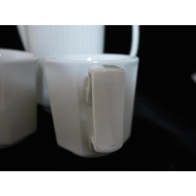 White Ironstone Tea Service Set - 3 Pieces For Sale - Image 7 of 7
