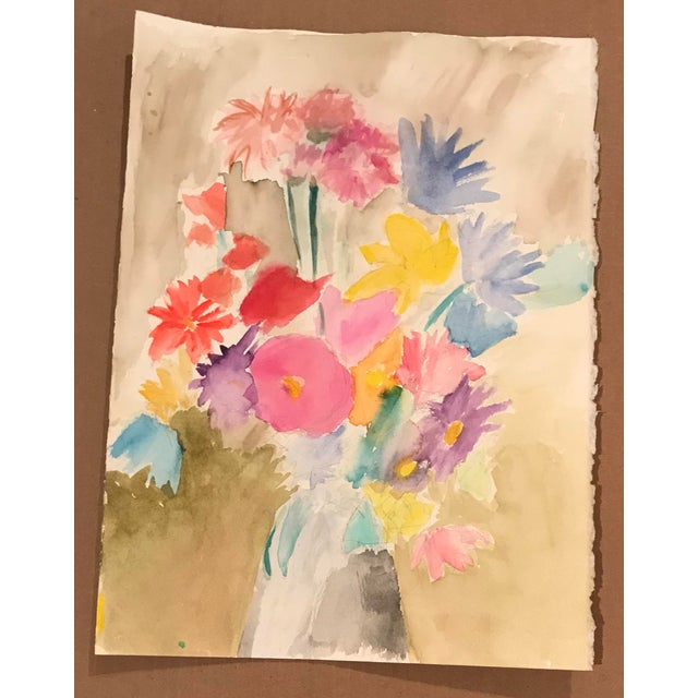 From the estate of the artist Myra Kyle Floral still life.