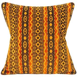Mid-Century Modern Brocade Velvet Chenille Pillow Cover For Sale