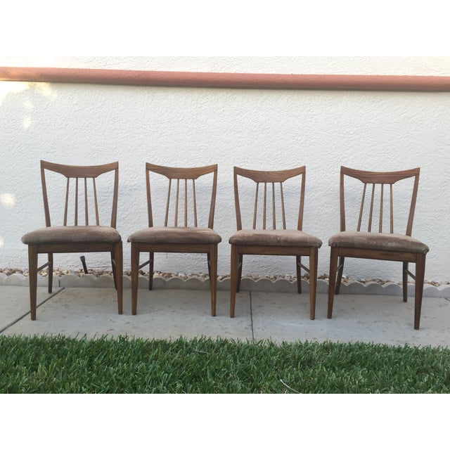 Mid Century Oak Dining Chairs - Set of 4 - Image 2 of 11