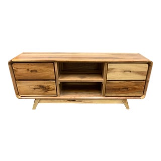 Salvage Reclaimed Wood Media Unit For Sale