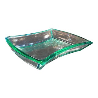 Fontana Arte Aquamarine Glass Bowl For Sale