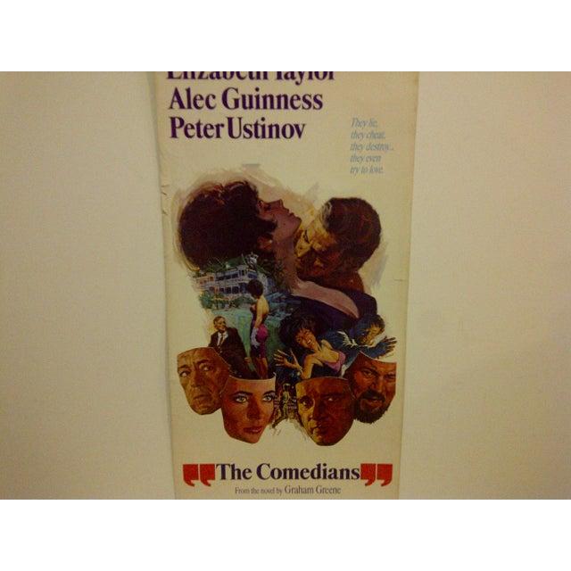 """Vintage Movie Poster """"The Comedians"""" Elizabeth Taylor 1967 - Image 5 of 6"""