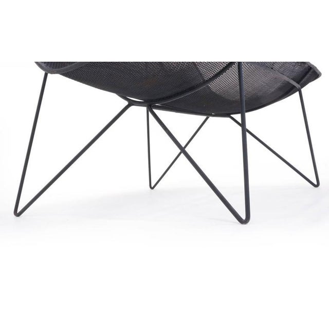Black Very Rare Sol Bloom Settee With Catch All For Sale - Image 8 of 9