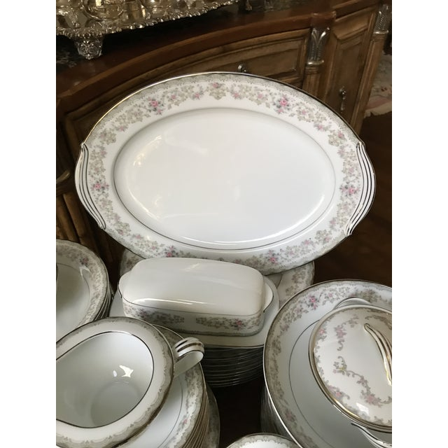 Vintage Noritake # 5807 Edgewood Service for 12 Dinnerware - 94 Pieces,reduced Final For Sale In Birmingham - Image 6 of 12