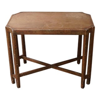 Charles Pollock Oak Side Table For Sale