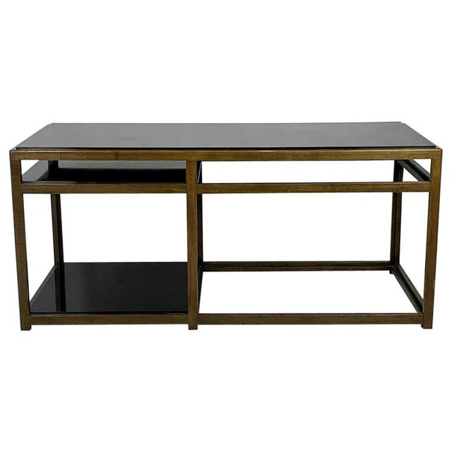 Black Edward Wormley for Dunbar Black Micarta & Ash Model 5403 End Table W/ Shelf For Sale - Image 8 of 8