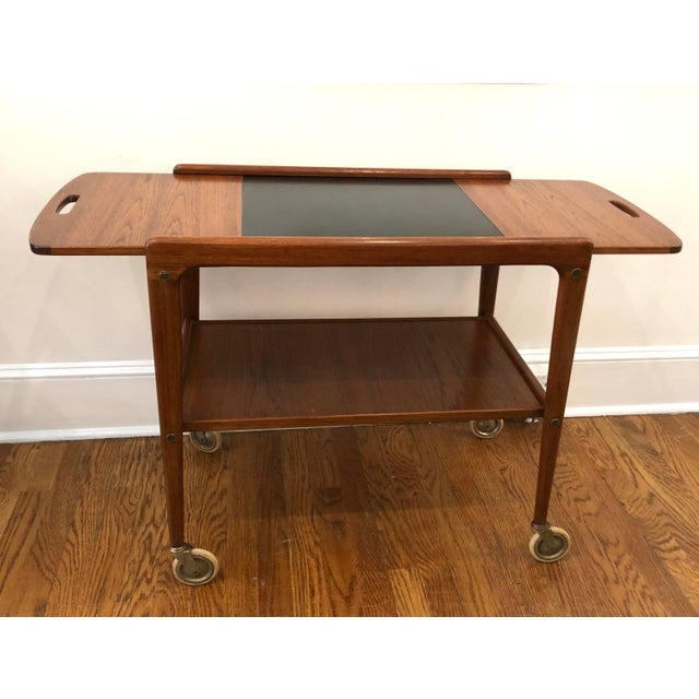 1960's Mid-Century Modern Wooden Bar Cart For Sale - Image 9 of 9
