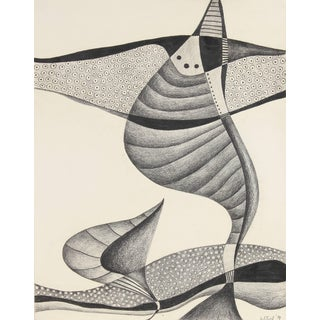 Jane Mitchell Monochromatic Abstract Graphite Drawing, 1984 1984 For Sale