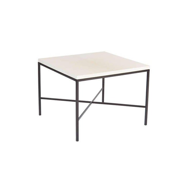 Customizable Trapp Parchment Top Side Table For Sale - Image 4 of 5
