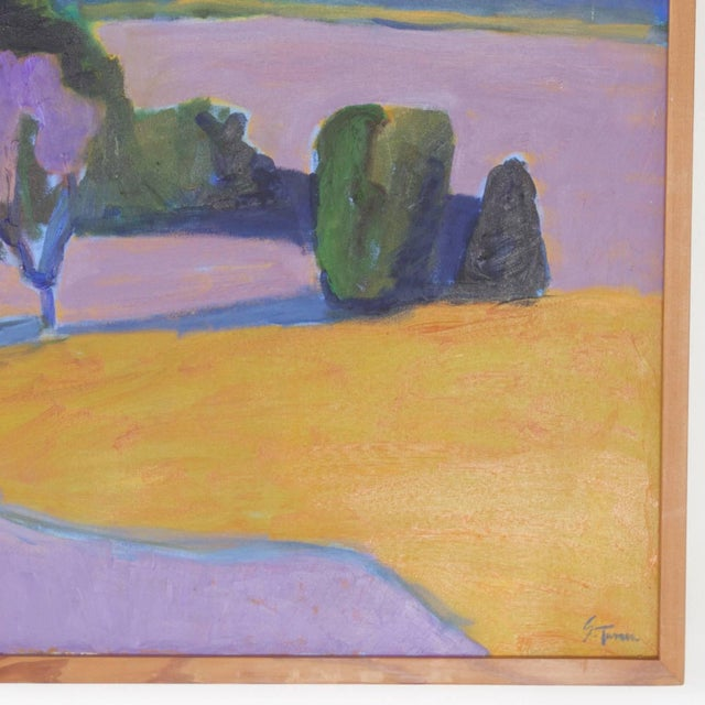 Mid-Century Landscape Painting on Canvas by Sally Turner For Sale In West Palm - Image 6 of 9