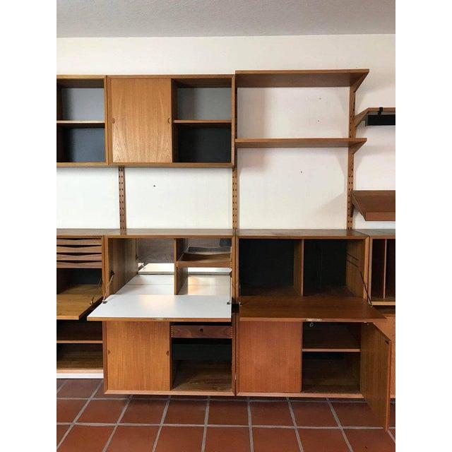 "1960s Danish Poul Cadovius ""System Cado"" Teak Floating Modular Wall Shelf System For Sale - Image 11 of 13"