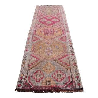1960s Vintage Kurdish Herki Tribal Runner - 3″ × 10″ For Sale