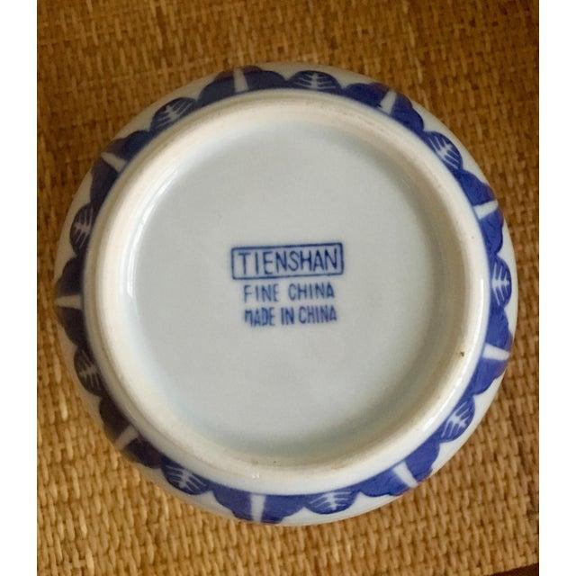 """Vintage Blue & White """"Rice Flower"""" Pattern Ginger Jar For Sale - Image 5 of 8"""