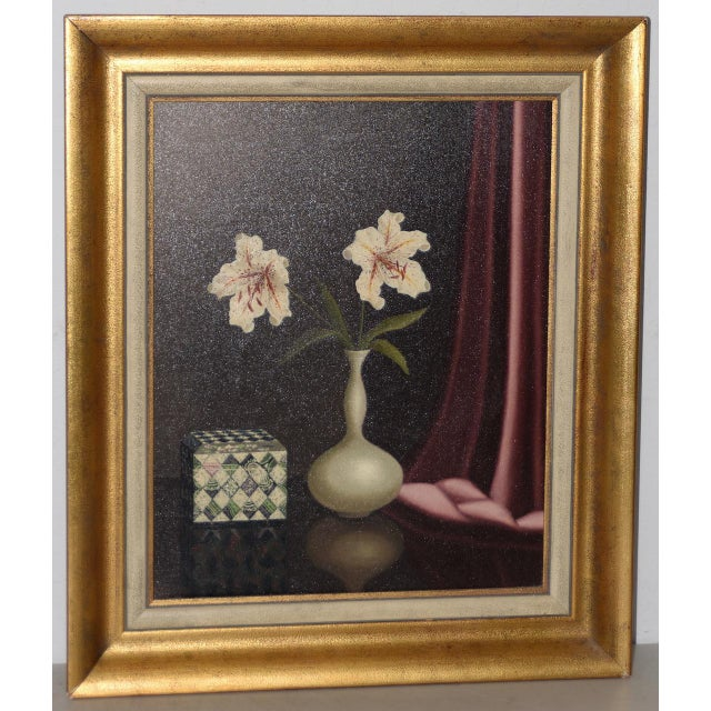 Tilly Moes (1899-1979) Still Life W/ Lilies C.1950 For Sale - Image 10 of 10