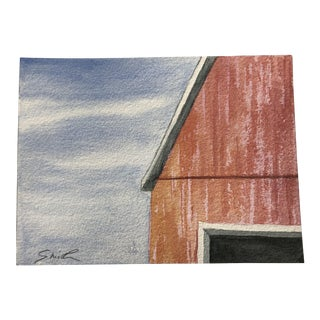 "Final Price! Nancy Smith ""Nothing but Blue Skies"" Original Watercolor Painting For Sale"