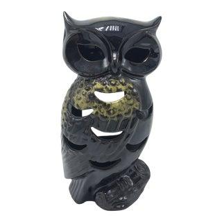 Vintage Ceramic Owl Candle Holder For Sale