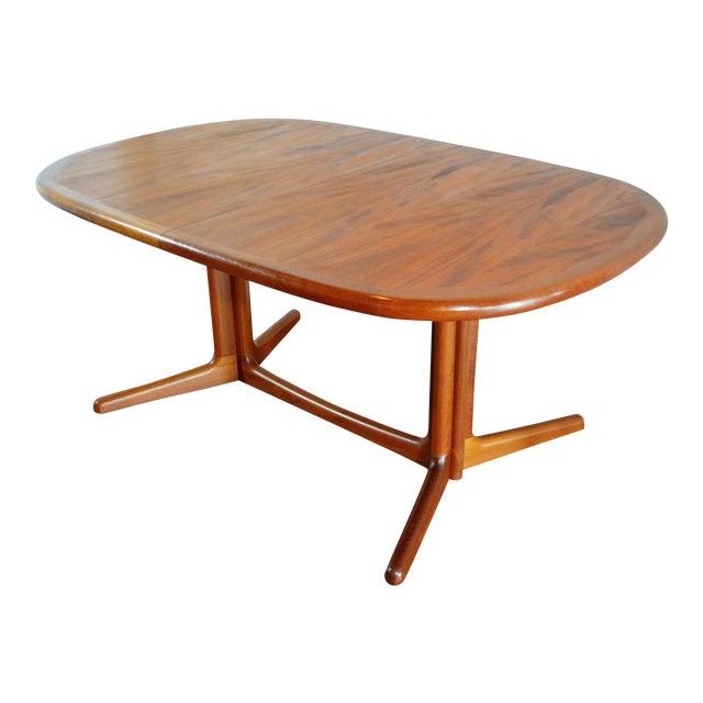 E. Valentinsen Danish Teak Expandable Dining Table For Sale