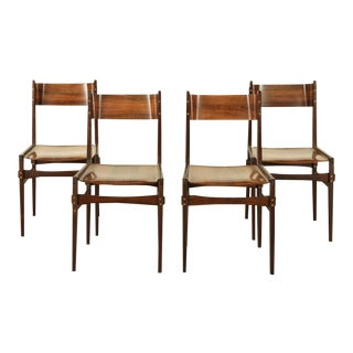 Set of Four Rosewood Side Chairs For Sale