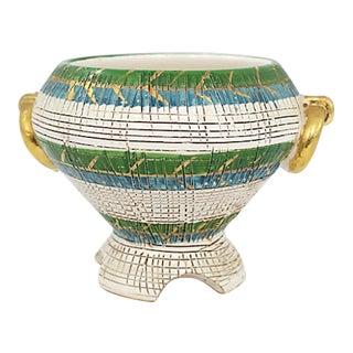 Italian Sgraffito Pedestal Bowl For Sale