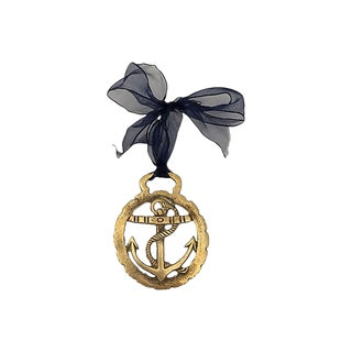 Antique English Brass Anchor Ornament For Sale