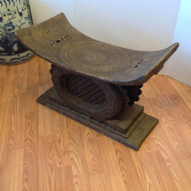 Early 20th Century Early 20th Century Ashanti Chief's Bench For Sale - Image 5 of 11