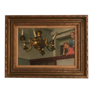"""""""Chandelier"""" Mid-Century Painting For Sale"""