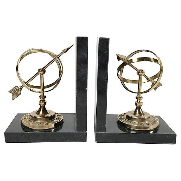 English Traditional Armillary Sphere Bookends For Sale - Image 3 of 6