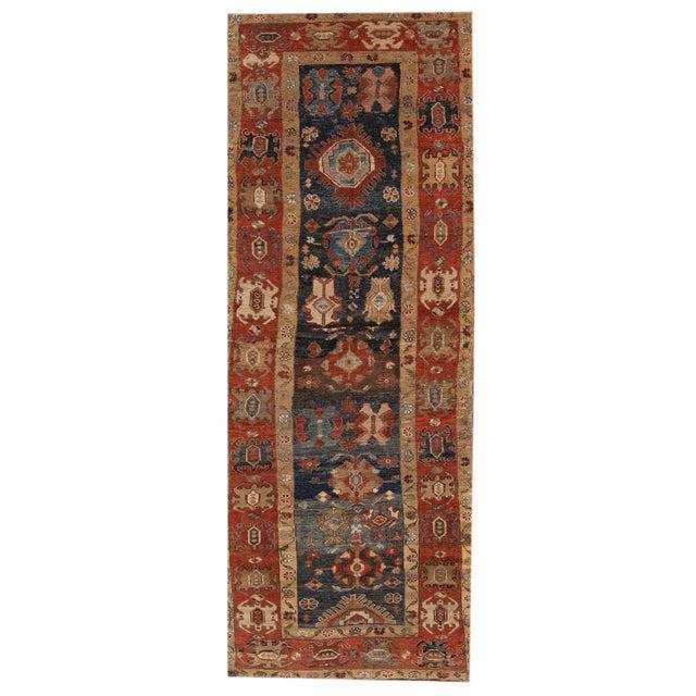 "Vintage Persian Tribal Bakshaish Rug, 3'11"" X 10'3"". For Sale - Image 10 of 10"
