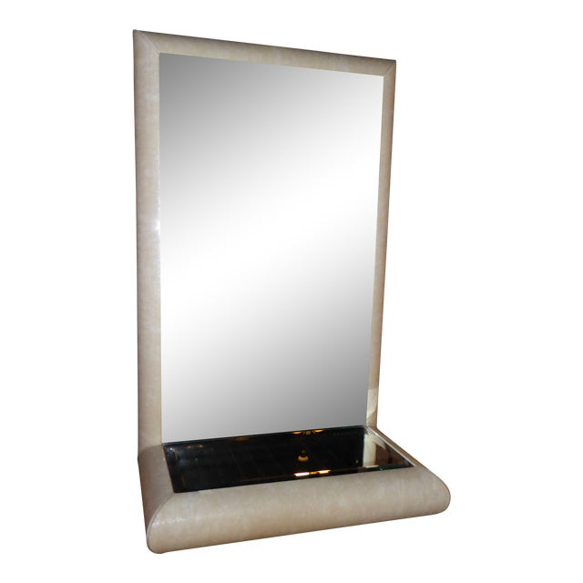 Springer Style Mirror Console in Faux Lizard by Jaru, California - Image 1 of 11